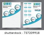 business flyer design template. ... | Shutterstock .eps vector #737209918