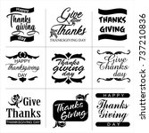 thanksgiving day typography set.... | Shutterstock .eps vector #737210836