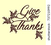 thanksgiving day for labels ... | Shutterstock .eps vector #737210992