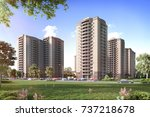 modern residential complex for... | Shutterstock . vector #737218678