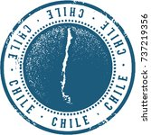 chile south america travel stamp | Shutterstock .eps vector #737219356