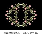 pattern for embroidered... | Shutterstock . vector #737219416