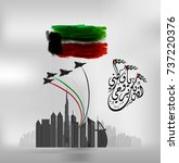 united arab emirates national... | Shutterstock .eps vector #737220376