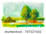 abstract image of  trees.  ... | Shutterstock . vector #737227102