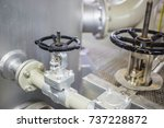 manual valve with steel pipe... | Shutterstock . vector #737228872