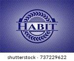 habit badge with denim... | Shutterstock .eps vector #737229622