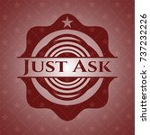 just ask badge with red... | Shutterstock .eps vector #737232226