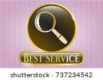 gold badge or emblem with... | Shutterstock .eps vector #737234542