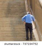 older gentleman tired and dizzy ... | Shutterstock . vector #737234752