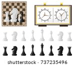 chess board and chessmen vector ...