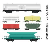 train carriages car railway...   Shutterstock .eps vector #737235508