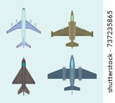 vector airplane illustration... | Shutterstock .eps vector #737235865