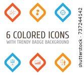 executive icons set. collection ... | Shutterstock .eps vector #737244142