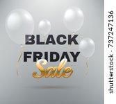black friday sale banner.... | Shutterstock .eps vector #737247136