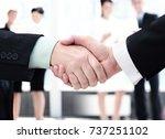 concept of partnership  ... | Shutterstock . vector #737251102