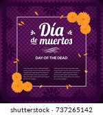 d a de muertos  day of the... | Shutterstock .eps vector #737265142