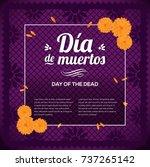 d a de muertos  day of the... | Shutterstock .eps vector #737265142