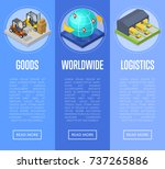 worldwide shipping and goods... | Shutterstock .eps vector #737265886