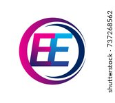initial letter logo ee company... | Shutterstock .eps vector #737268562