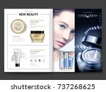 cosmetic magazine design ... | Shutterstock .eps vector #737268625