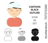 head injury icon cartoon....   Shutterstock .eps vector #737272282