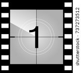 old film movie countdown frame. ... | Shutterstock .eps vector #737273512
