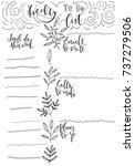 hand drawn weekly list... | Shutterstock .eps vector #737279506