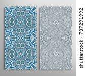 vertical seamless patterns set  ... | Shutterstock .eps vector #737291992