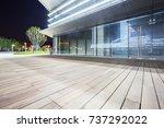 modern glass building exterior... | Shutterstock . vector #737292022