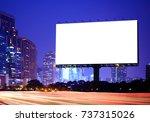 advertising concept  blank... | Shutterstock . vector #737315026