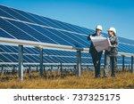 solar power station | Shutterstock . vector #737325175