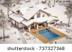 3d rendering of modern cozy... | Shutterstock . vector #737327368