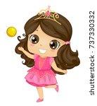 illustration of a kid girl... | Shutterstock .eps vector #737330332