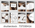 abstract vector layout... | Shutterstock .eps vector #737330416