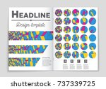 abstract vector layout... | Shutterstock .eps vector #737339725
