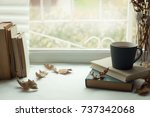 warm and comfy autumn concept.... | Shutterstock . vector #737342068