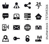 16 vector icon set   basket ... | Shutterstock .eps vector #737345266