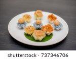 ancient thai dessert  thai...   Shutterstock . vector #737346706