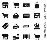 16 vector icon set   shop  cart ... | Shutterstock .eps vector #737349532