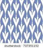 floral pattern design  babies... | Shutterstock .eps vector #737351152