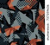 vector abstract seamless... | Shutterstock .eps vector #737359636
