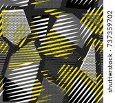 vector abstract seamless... | Shutterstock .eps vector #737359702