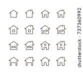 home icon set. collection of...