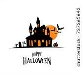 halloween theme white... | Shutterstock .eps vector #737365642