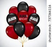 black friday sale poster with...   Shutterstock .eps vector #737366116