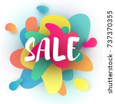 vector illustration  sale... | Shutterstock .eps vector #737370355