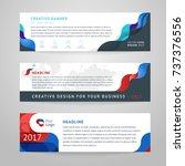 vector set of abstract design... | Shutterstock .eps vector #737376556