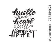 lettering layout hustle and