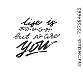 lettering phrase life is tough