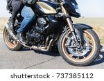 a close up of a motorcycle... | Shutterstock . vector #737385112